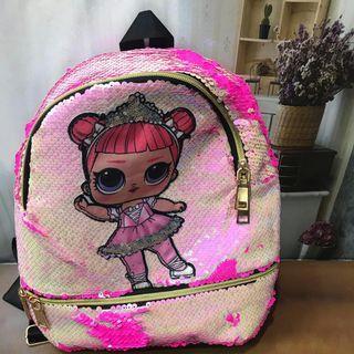 Tas Sekolah Anak Sequin lol