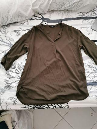 3/4 sleeve rayon blouse