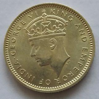 A Fine Malaya King George VI 10 Cent Coin of Year 1941
