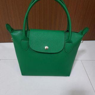 Brand New Green Mini Tote Sling Lunch Bag