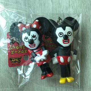 cubic mouth mickey mouse and minnie mouse squishies
