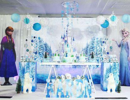Frozen Party Dessert Table