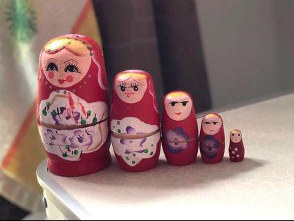 Wooden Girl Russian Matryoshka Doll
