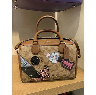 AVAILABLE 🌷 Coach Keith Haring Mini Bennet Satchel Signature With Patches