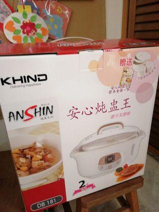 Khind Double Boiler (3 Ceramic Pot)