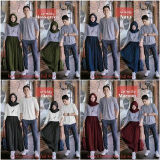 Set setelan st stelan couple cp MISTY
