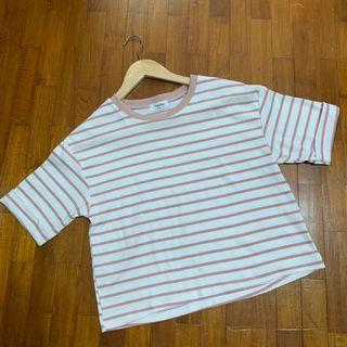 Dusty Rose Striped Shirt