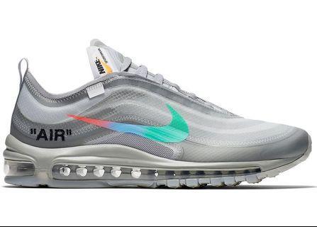 全新有單 Us 8 & 9 Off-White Nike Air Max 97 Menta