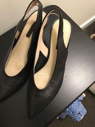 Topshop kitten sling back heels