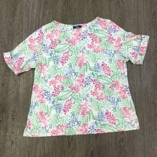 🚚 Plus Size Floral Soft Cotton Shirt