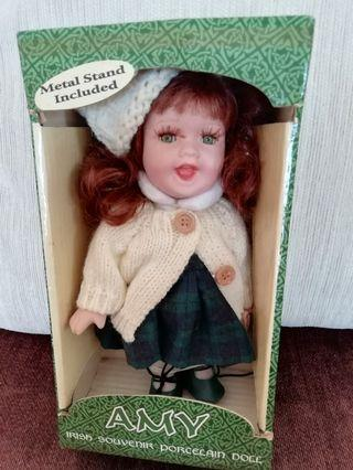 Irish Porcelain Doll with Metal Stand- Amy
