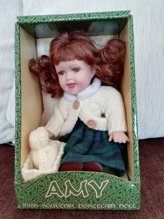 Irish Porcelain Doll - Amy Sitting Down