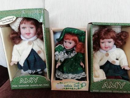 From Ireland - 3 Irish Porcelain Dolls from