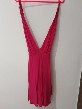FOREVER 21 dress cantik Pink Fanta