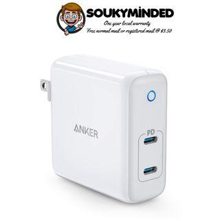 [IN-STOCK] Anker 60W 2-Port USB C Charger, PowerPort Atom PD 2 [GaN Tech] Ultra Compact Foldable Type C Wall Charger, Power Delivery for MacBook Pro/Air, iPad Pro, iPhone XR/XS/Max/X/8, Pixel, Galaxy, and More