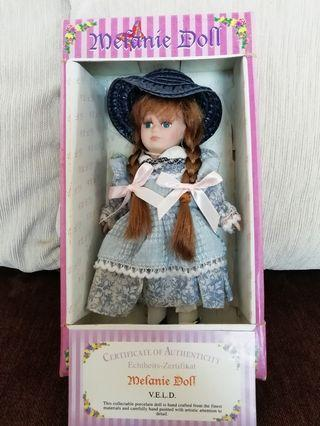 German Porcelain Doll with Certificate of Authenticity