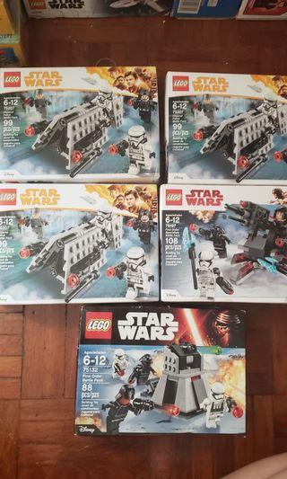 Lego 75197 75207 75132