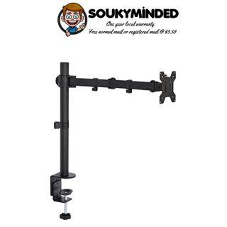 """[IN-STOCK] VIVO Single LCD Monitor Desk Mount Stand Fully Adjustable/Tilt/Articulating for 1 Screen 13"""" to 27"""" (STAND-V001)"""