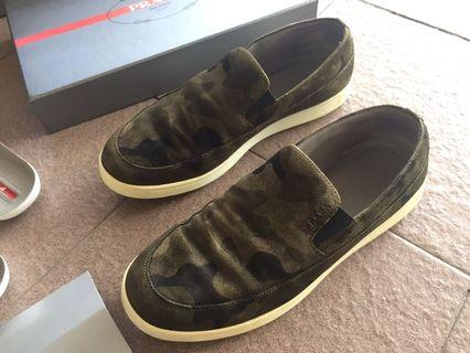Authentic prada Sneaker army shoes japan