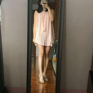 Rose Chiffon Dress / Long Blouse