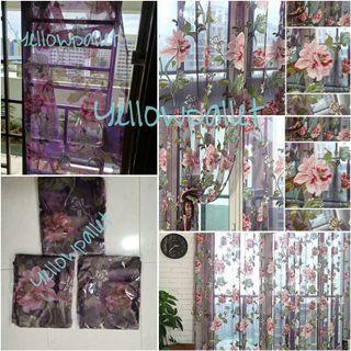 100x200cm romantic tulle floral curtain voile