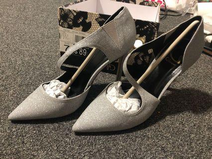 Brand New Silver glitter shoes