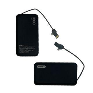 Fast Charge Powerbank 8000mAh Android iOS and USB Wallet