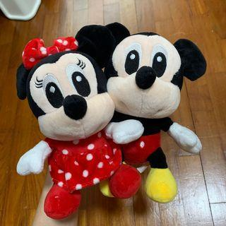 Mickey And Minnie Mouse Soft Toy