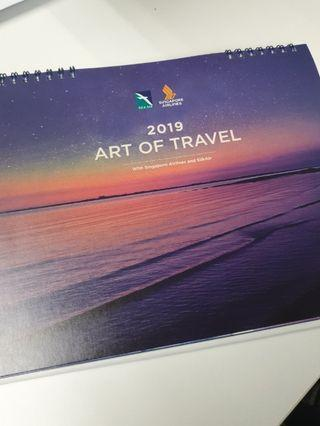 🚚 SIA Singapore Airlines 2019 Calender (NEW)