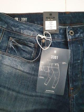 New Authentic G-Star 3301 Jeans