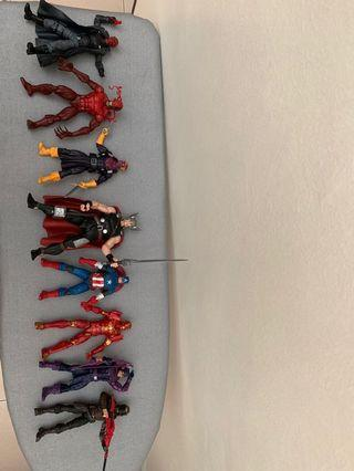 Marvel Legends Thor、Captain America、Ironman、Hawkeye、Winter Soldiers、Baron Zemo、Red Skull、Toxin(Amazing spiderman wave)、