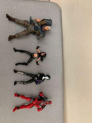Marvel Legends Figure Deadpool、Domino、X-23、Cable