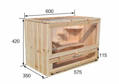 Wooden Hamster Cage