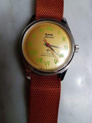 hmt Pilot 17J Hand Wind Yellow Dial Men Watch(NOS).