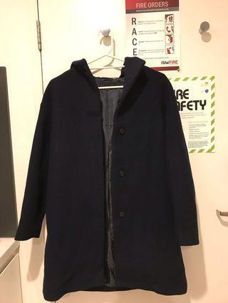 Uniqlo wool blended hooded coat