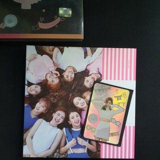 Twice twicecoaster TT album with Nina holographic pc and tzuyu disc