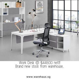 Brand New Work Desk with Side Cabinet