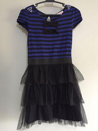 BLUEZOO Blue Black Dress