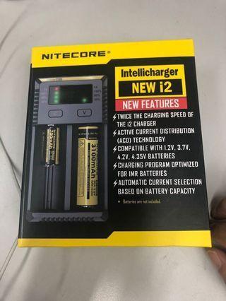 (全新)NITECORE i2 18650 電池充電器(適合多款充電蕊使用)