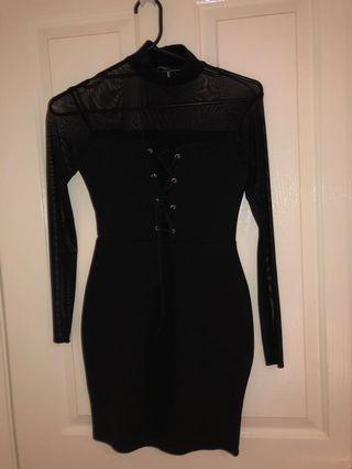 PLT Mesh Upper Mini Dress