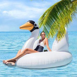 美國品牌INTEX超大白天鵝造型充氣座騎 海上 水上充氣浮排(194*152*147cm)~網美 部落客夏日拍照必備