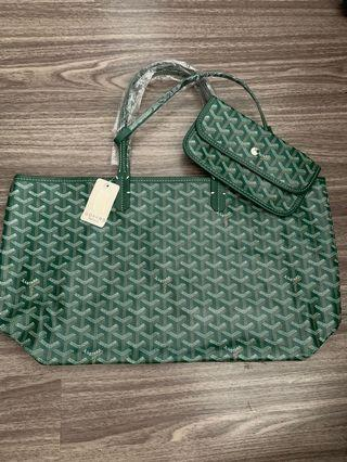 🚚 BN GY Design Fashionable (Green)Tote Bag