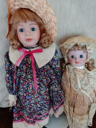 Vintage English Porcelain Dolls - From the collection of an English Grandma