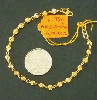 Real 916 Gold small balls bracelet