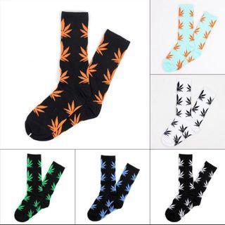 Maple leaves / weed / hemp  socks