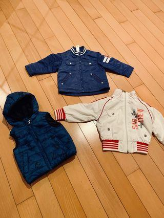 Set of 3 jackets and vest