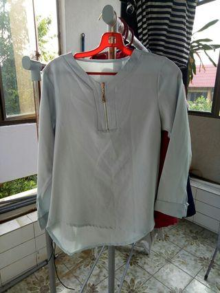 Baby Blue Office Blouse