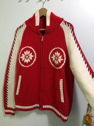 日本品牌Evisu二手男裝紅色冷外套