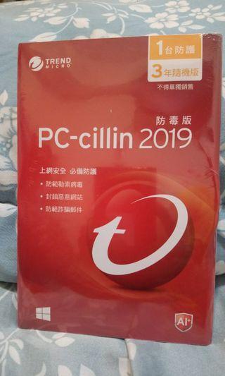 防毒軟體  pc-cillin2019防毒版 五月底前購買1片900