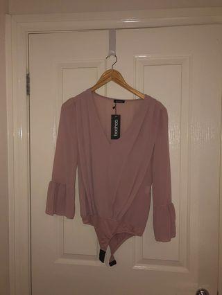 Brand New Boohoo Blush Bodysuit